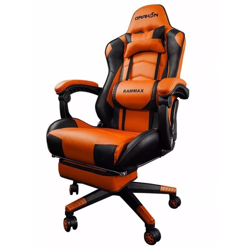 Silla gamer raidmax dk 709 black orange precio calidad for Silla gamer precio