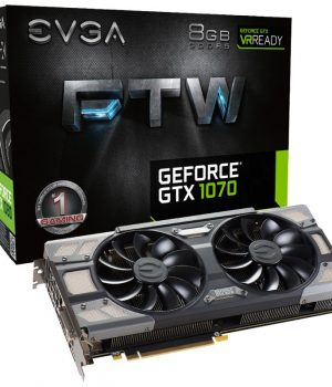 Placa de Video EVGA Nvidia GTX 1070 FTW 8GB DDR5