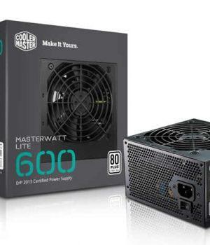 Fuente Cooler Master 600W Masterwatt Lite 80 Plus White