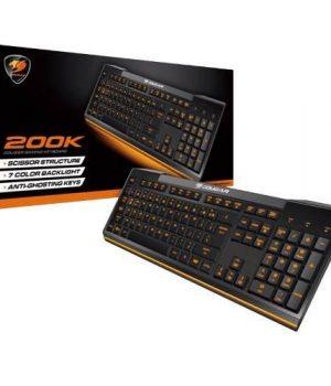 Teclado Gamer Cougar 200K Backlight 7 Colores