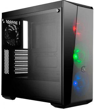 GABINETE COOLER MASTER MASTERBOX LITE 5 RGB Led Fan x 3 Black Fan x 1 VIDRIO TEMPLADO