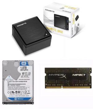 Mini Pc Gigabyte Brix Intel 4gb Ddr3l 1600mhz Hd 1tb Sata