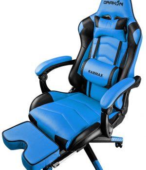 SILLA GAMER RAIDMAX DK-709 BLACK/BLUE