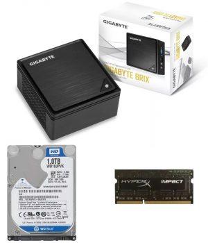 Mini Pc Gigabyte Brix Intel 8gb Ddr3l 1600mhz Hd 1Tb Sata