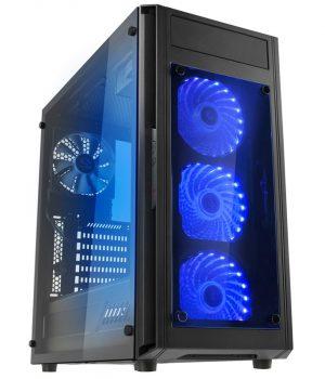 GABINETE RAIDMAX ALPHA PRIME A15 BLACK TEMPLADO RGB REMOTO NEGRO :: OFERTA
