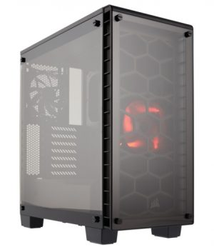 Gabinete Corsair Crystal 460X COMPACT BLACK Mid-Tower Vidrio Templado