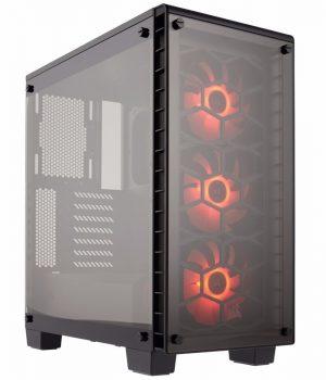 Gabinete Corsair Crystal 460X RGB Mid-Tower Vidrio Templado