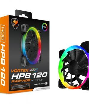 Cooler Fan Cougar HPB120 120mm Vortex LED RGB