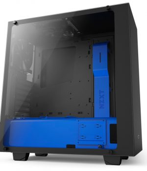 Gabinete Gamer Nzxt S340 ELITE Matte Black & Blue