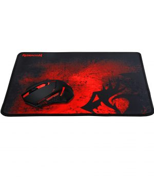 KIT MOUSE Y MOUSE PAD REDRAGON M601WL+P006 2400DPI MOUSE