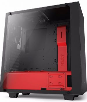 Gabinete Gamer Nzxt S340 ELITE Matte Black & Red