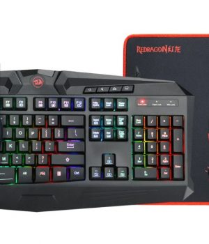 Kit Essentials Gaming Redragon S101-BA Waveimpact RGB (Tec/Mous/Pad/Headset) Ingles