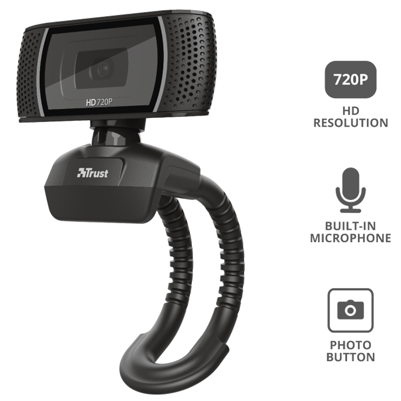 Camara Trust Trino Hd 720p Usb Webcam Pc/Notebook